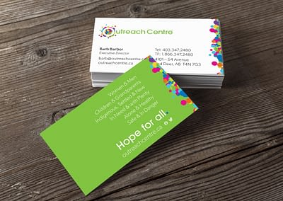 Outreach Centre Business Cards