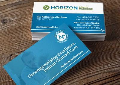 Horizon Family Medicine Business cards