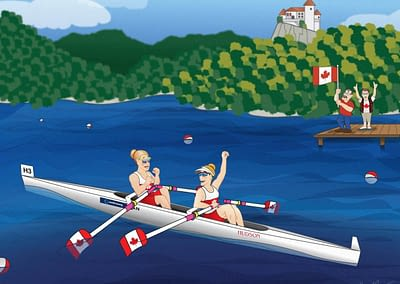 Canadian Rowing Team In Slovenia